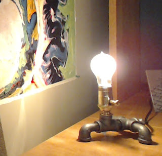 "Picture of ""Manning"" lamp from This Little Light, on my office desk."