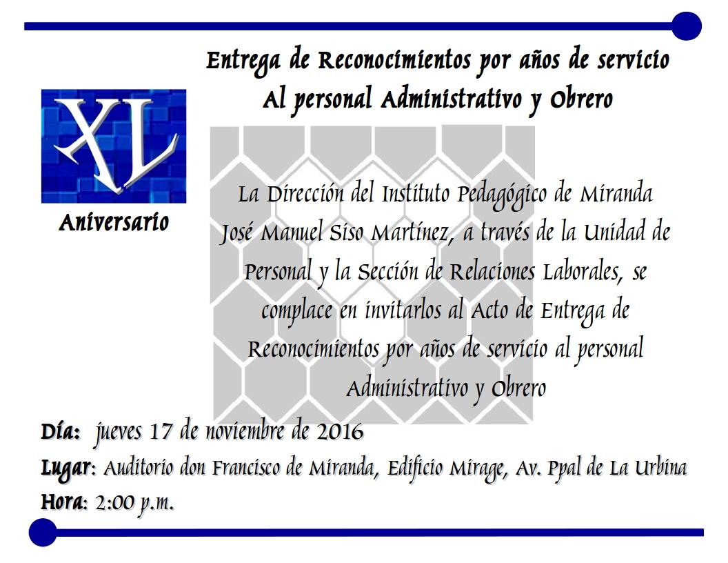 Frase De Aniversario Laboral: Noticias UPEL Miranda: Invitación Al Acto De Entrega De