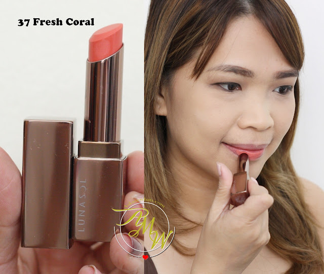 a photo of Lunasol Look featuring Lunasol Full Glamour Lips in 37 Fresh Coral