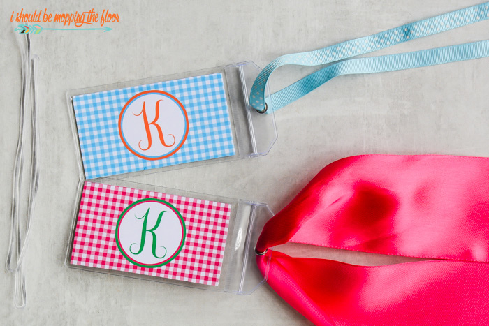Free Printable Monogram Luggage Tags