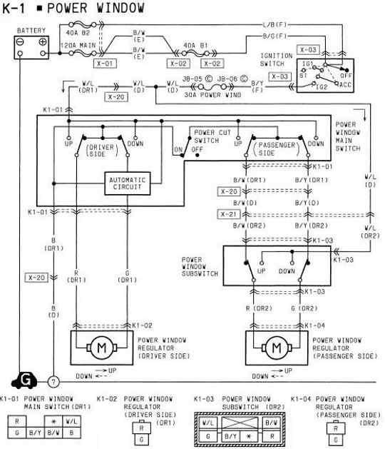 power window wiring diagram of 1994 mazda rx 7