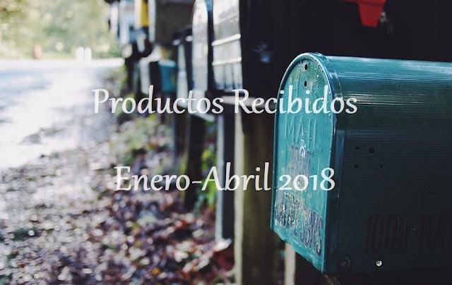Productos Recibidos Enero-Abril 2018