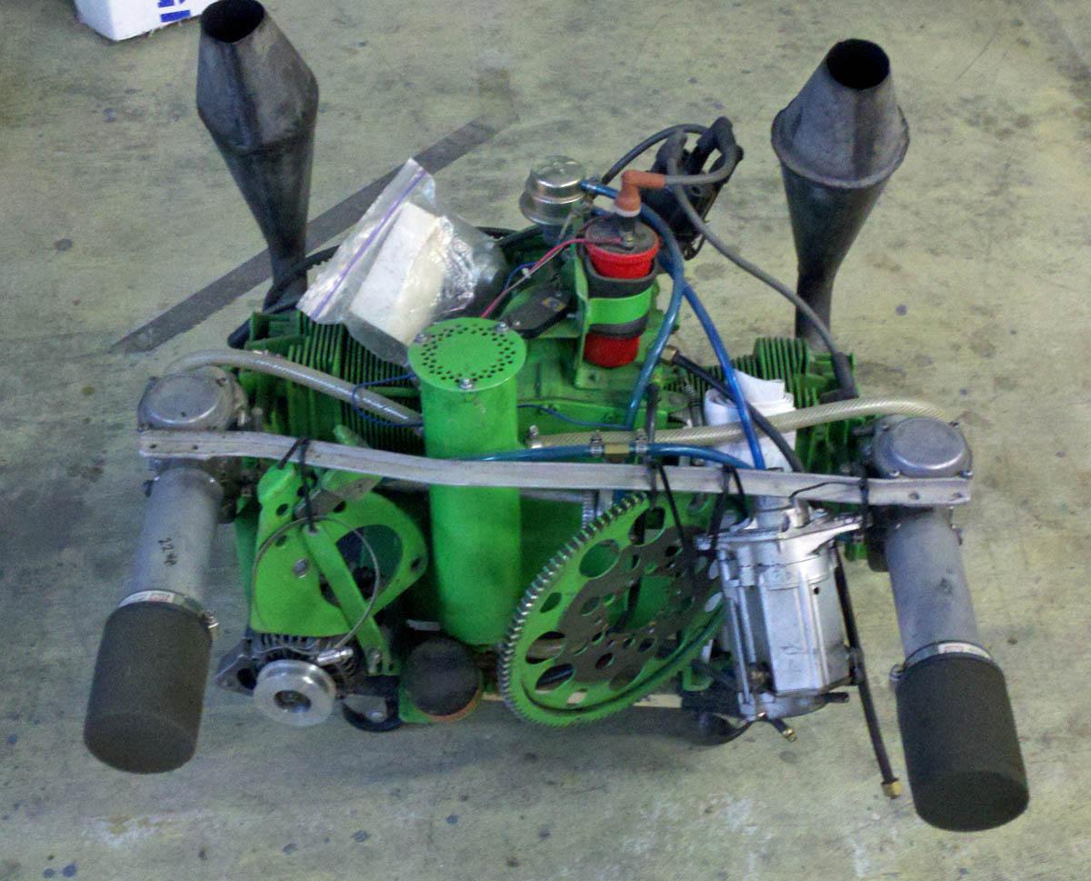 Belite Ultralight Blog: Gross and Ugly Half VW Engine on