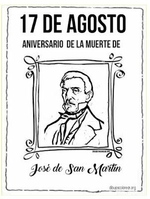 colorear muerte de Don José San Martín