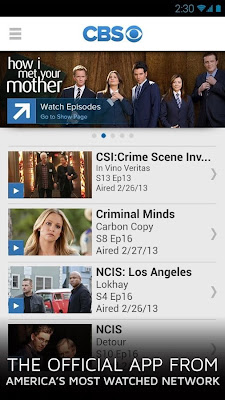 CBS for Android phones and Tablets