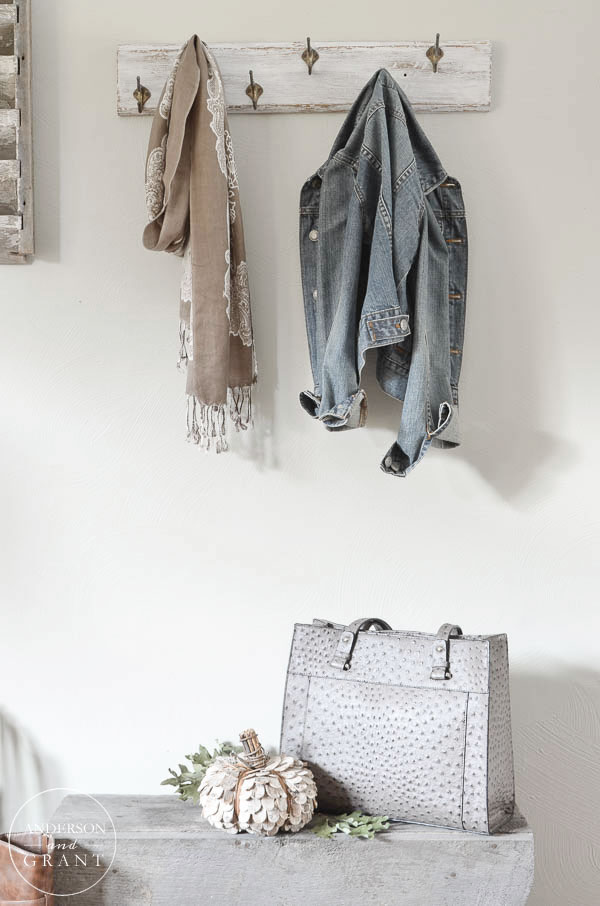 Find out how to transform a dated coat rack into a stylish one for your entryway.    || www.andersonandgrant.com