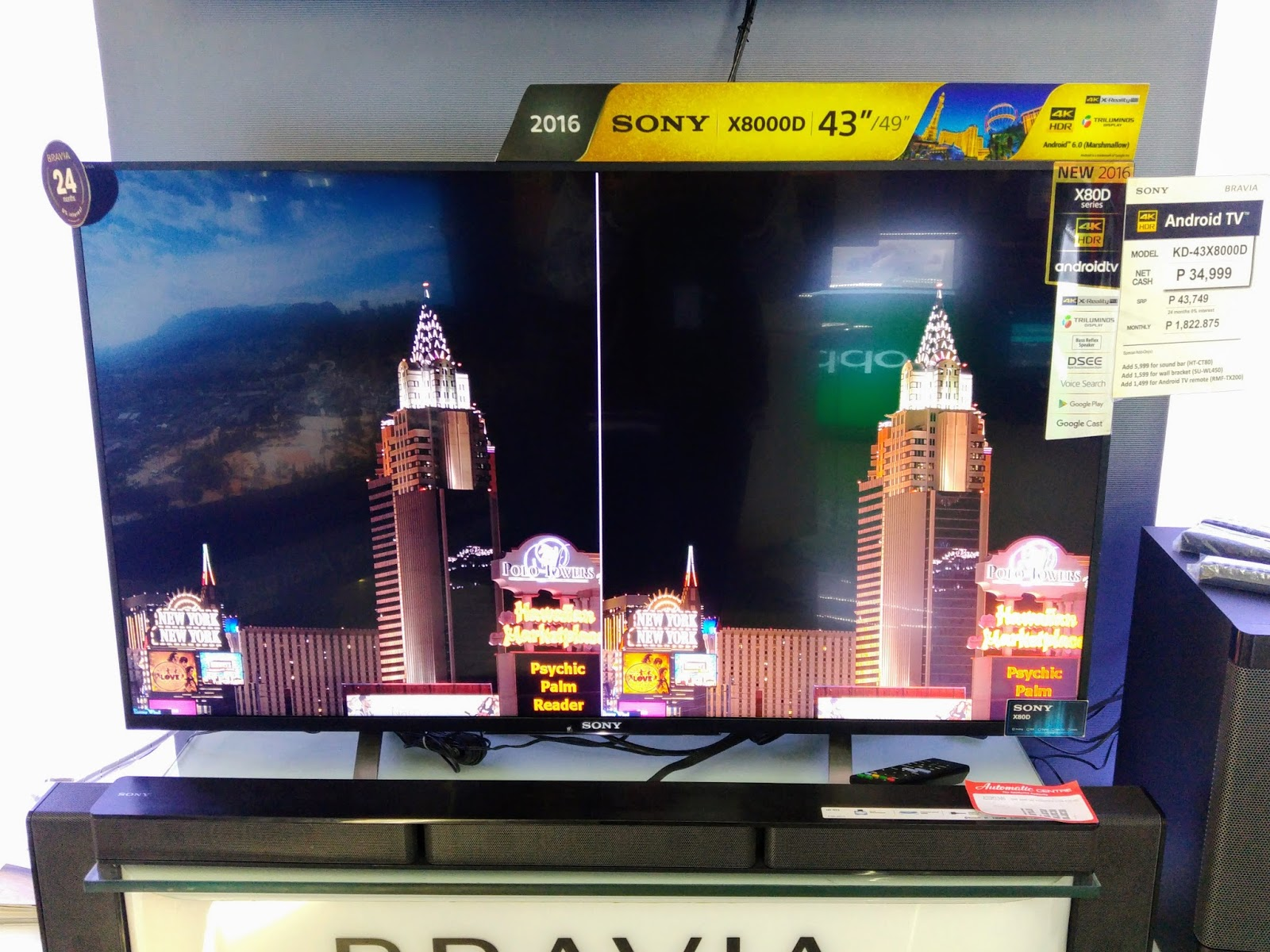 4K HDR Android TV by Sony (BRAVIA X8000D) - The Rookie Blogger