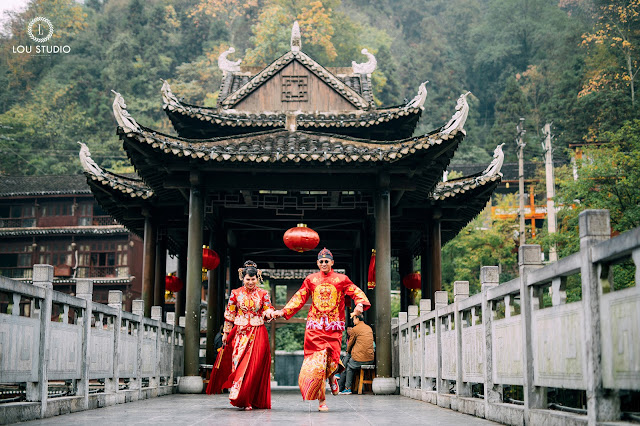 Ý tưởng chụp hình cưới mới lạ với phong cách Trung Hoa