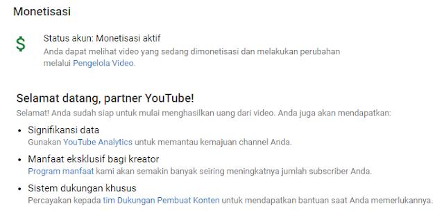 cara memasang iklan adsense di youtube dengan mudah