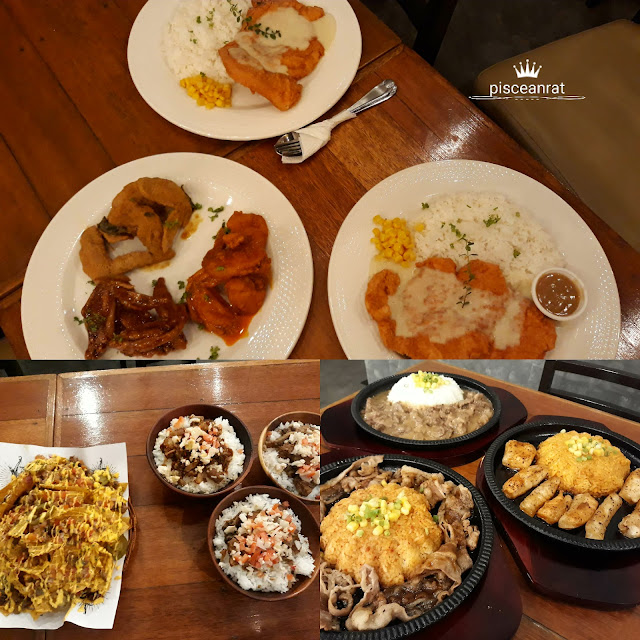 It's A Good FRY Day wings, Puesto nachos, Adobo Project bowls, Smokin' Iron in sizzling plates.