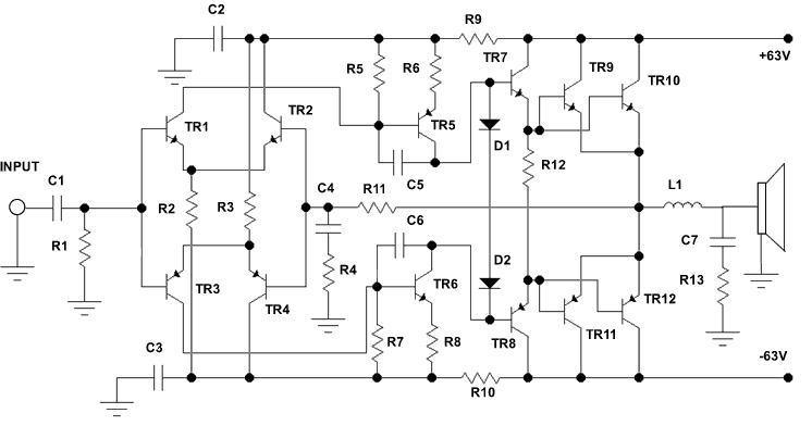ELECTRO,CIRCUIT, SCHEMA & DATASHEET: 500 Watt Audio Power