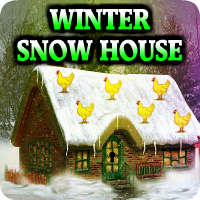 AvmGames Winter Snow House Escape Walkthrough