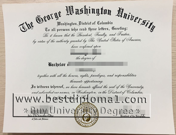 GWU degree certificates maker