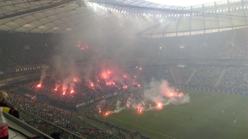 Race na murawie Stadionu Narodowego - fot. Tomasz Janus / sportnaukowo.pl