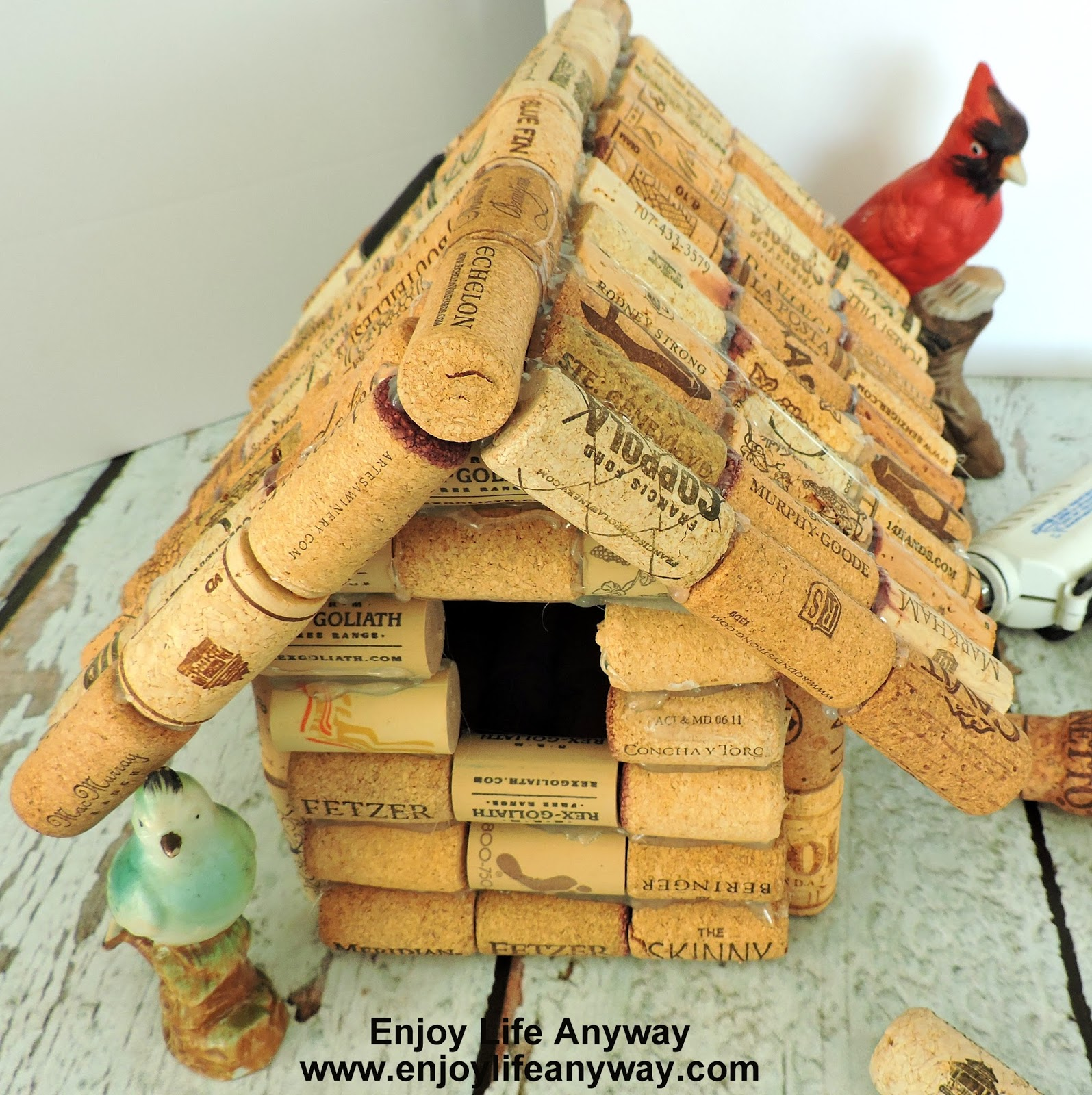 enjoy life anyway how to build a bird house with used