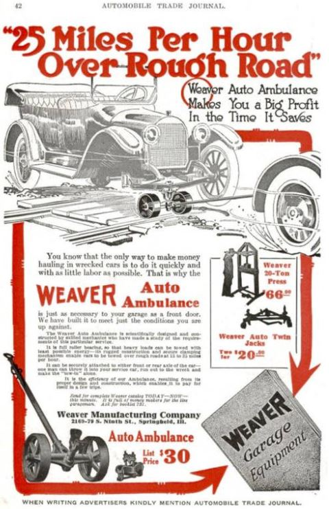 Just A Car Guy: 1920's Weaver Auto Ambulance just came up on