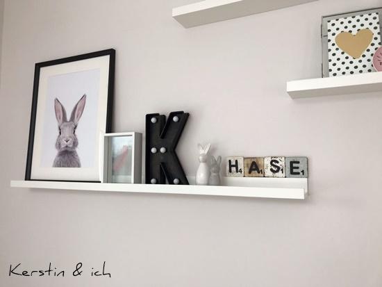 Wohnen Deko Hasenbild Bilderleiste Wohnzimmer Ostern