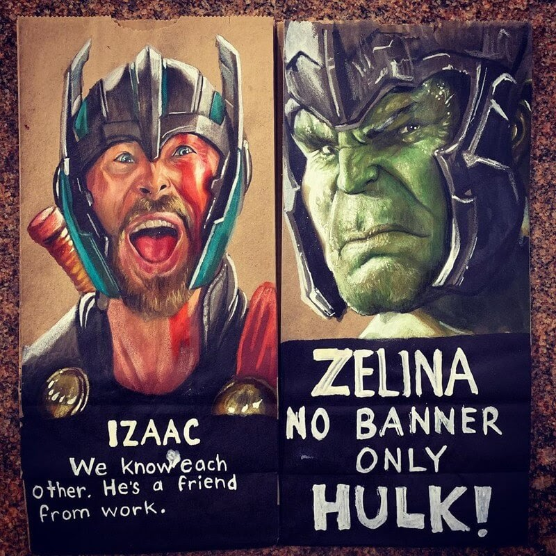 06-Thor-Ragnarok-L-Jinks-Brown-Bag-Art-Father-and-Drawings-for-Children-www-designstack-co