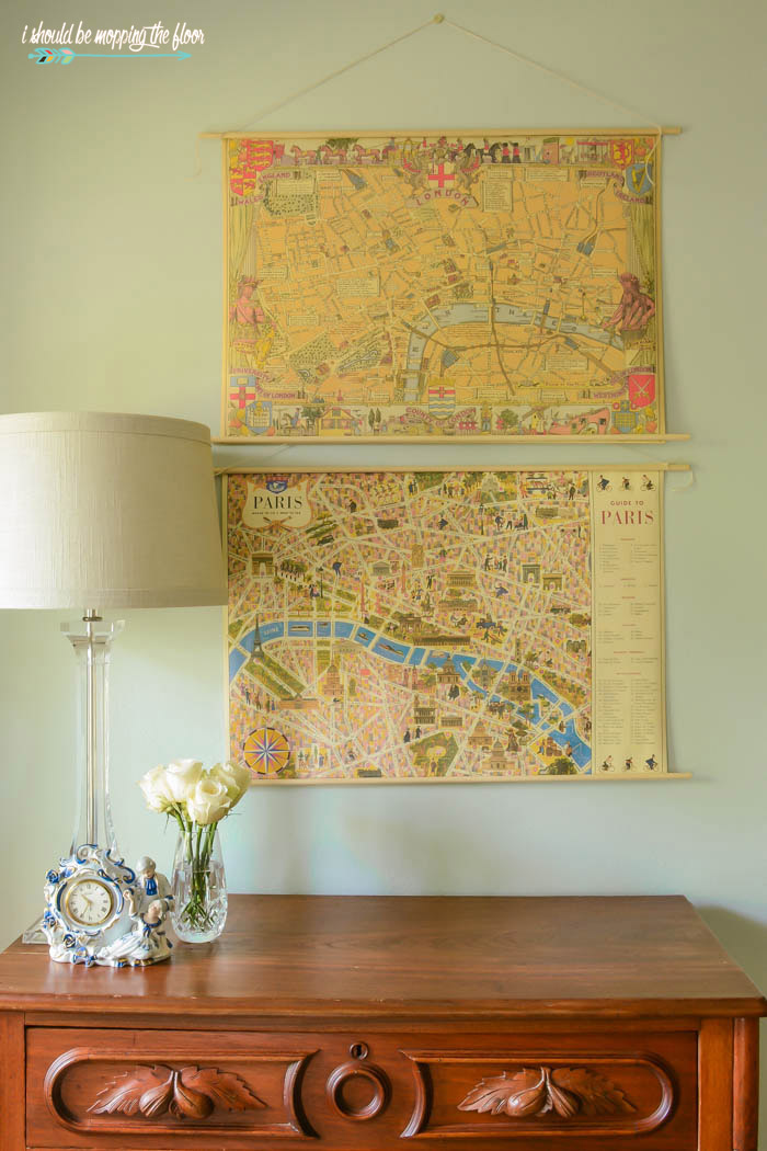 i should be mopping the floor: DIY Map Wall Art