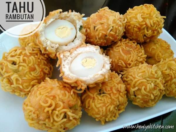 Resep Membuat Bola Tahu Rambutan Isi Telur Enak