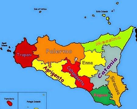 Cartina Sicilia Fisico Politica.La Sicilia Riassunto Scuolissima Com