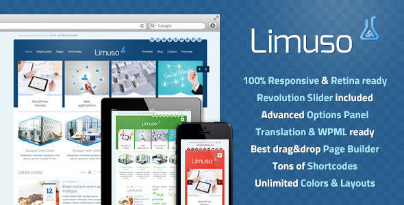 Limuso WordPress Theme - Corporate Business