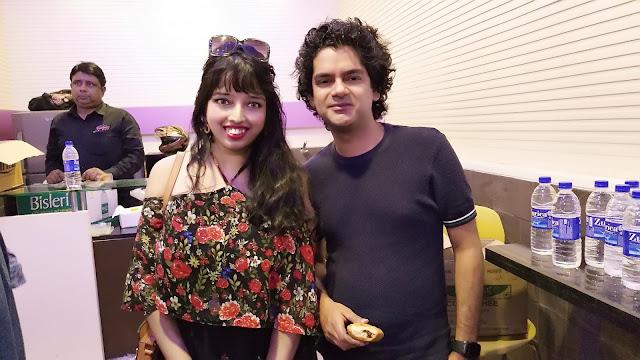 Nikita Gharat and Mayank Shekhar at Jagran Film Festival 2018