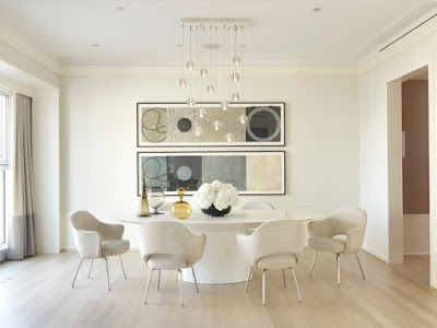 Modern+Dining+Room+Sets-White+Round+Table