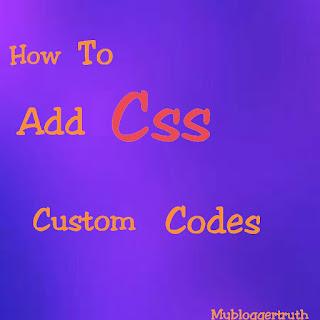 Add css codes