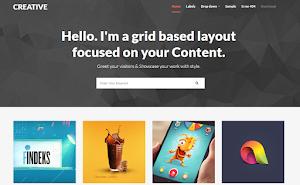 Creative Portfolio blogger template