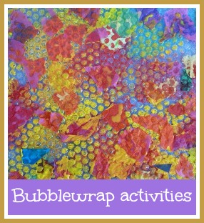 Bubblewrap activities for toddlers