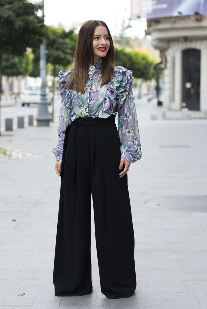 how to wear palazzo trousers