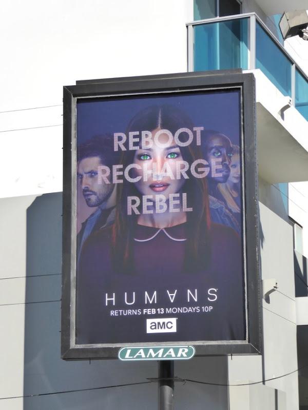 Humans season 2 Reboot Recharge Rebel poster