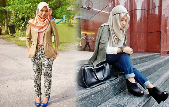 gaya jilbab kantoran trend