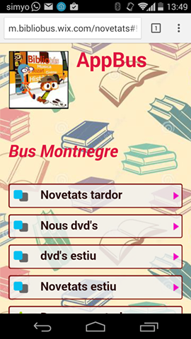 app Bibliobus Montnegre