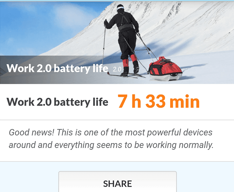 Not that strong battery performance
