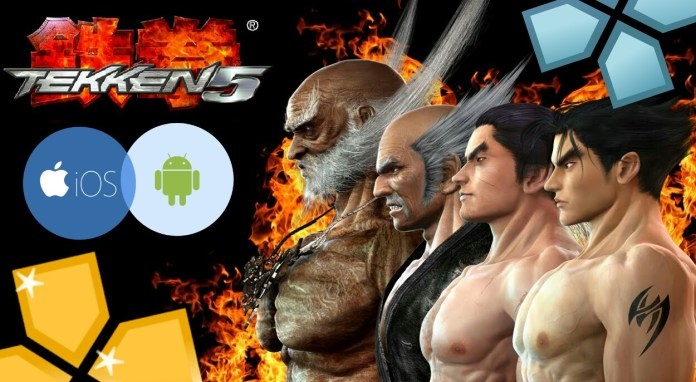 Tekken 5 PPSSPP+PSP ISO Highly Compressed For Android (600MB) | Androxfy