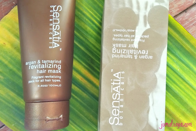 sensatia botanicals argan and tamarind revitalizing hair mask review
