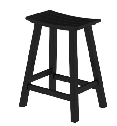 POLYWOOD Traditional 24 inch Saddle Bar Stool