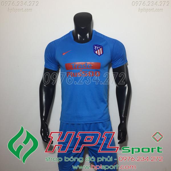 Áo đá bóng câu lạc bộ Atletico xanh 2019
