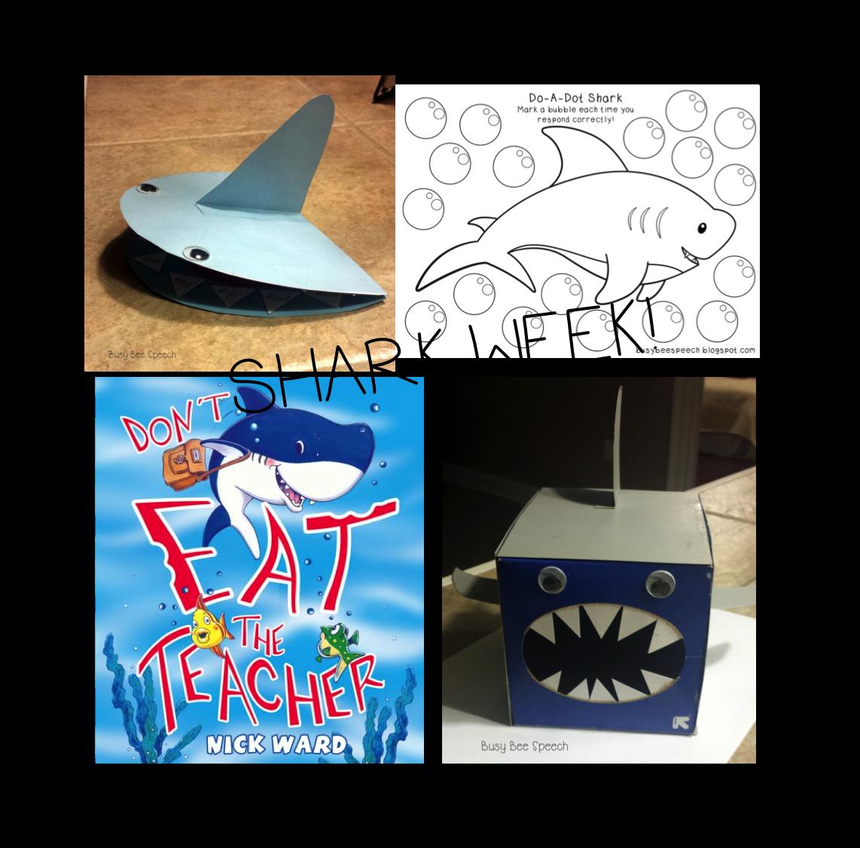 Busy Bee Speech Shark Week In Speech With A Freebie
