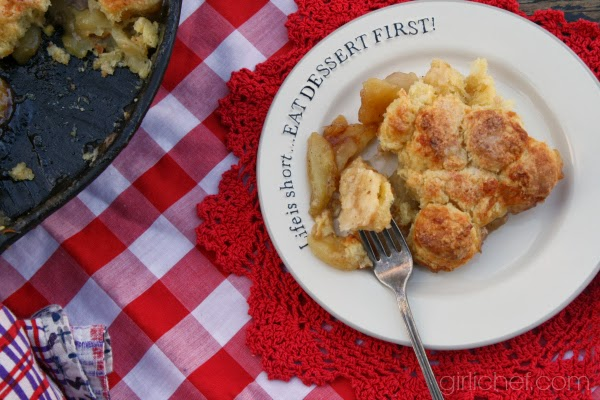 Skellig Biscuit Apple Cobbler | www.girlichef.com