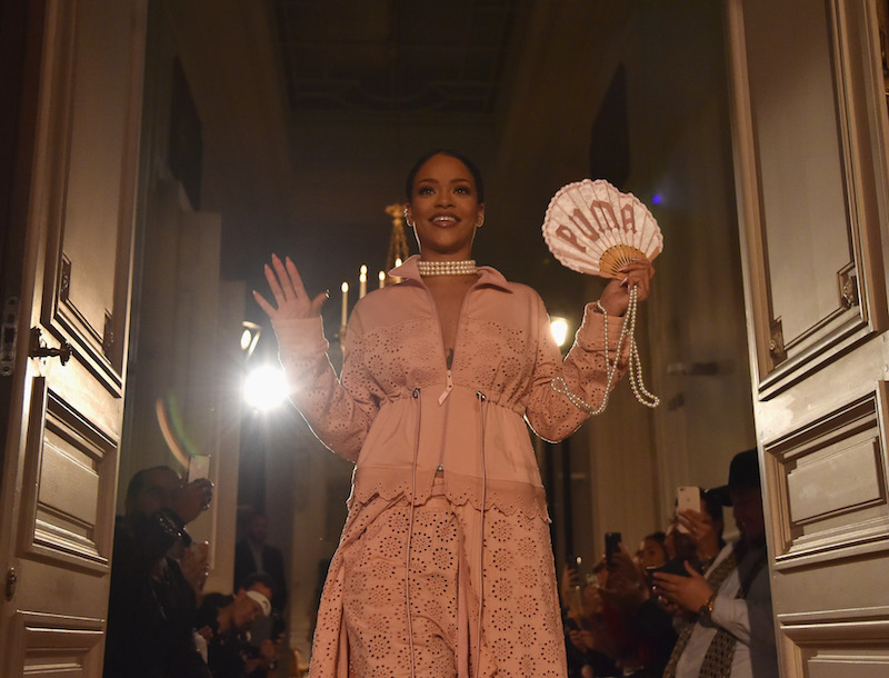 Rihanna at the finale of Fenty x Puma SS17, Paris Fashion Week.