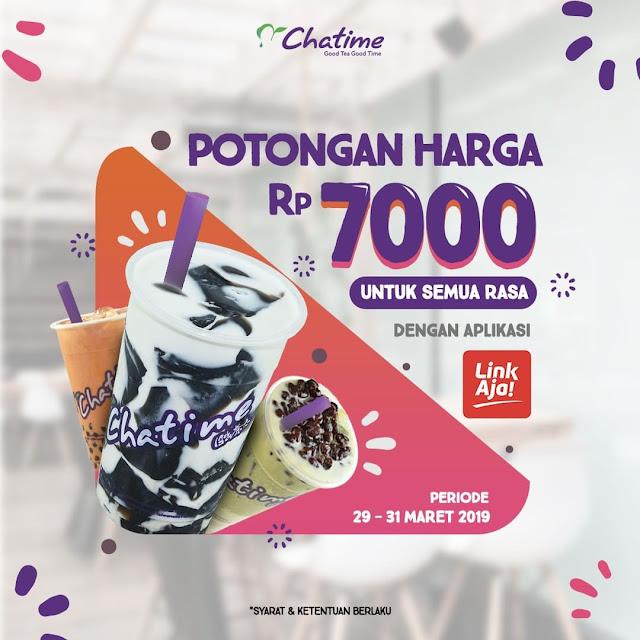 #Chatime - #Promo Potongan 7K Semua Rasa Pakai Aplikasi LinkAja (s.d 31 Maret 2019)
