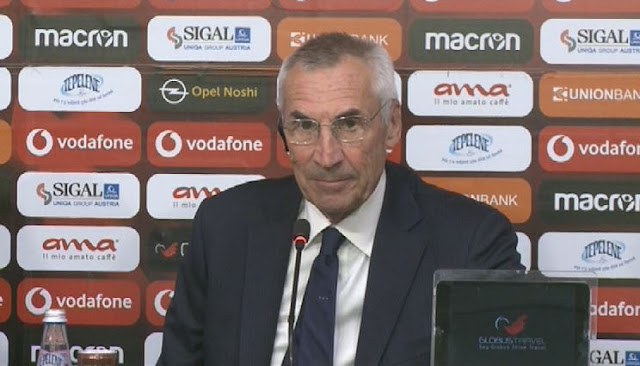 Edoardo Reja speaks as Albania's coach: Hope everything goes well