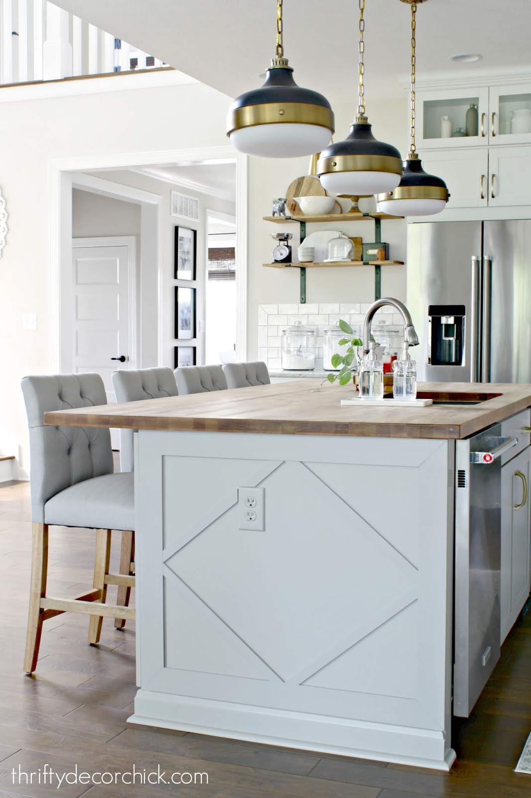 Adding detail to end of kitchen island