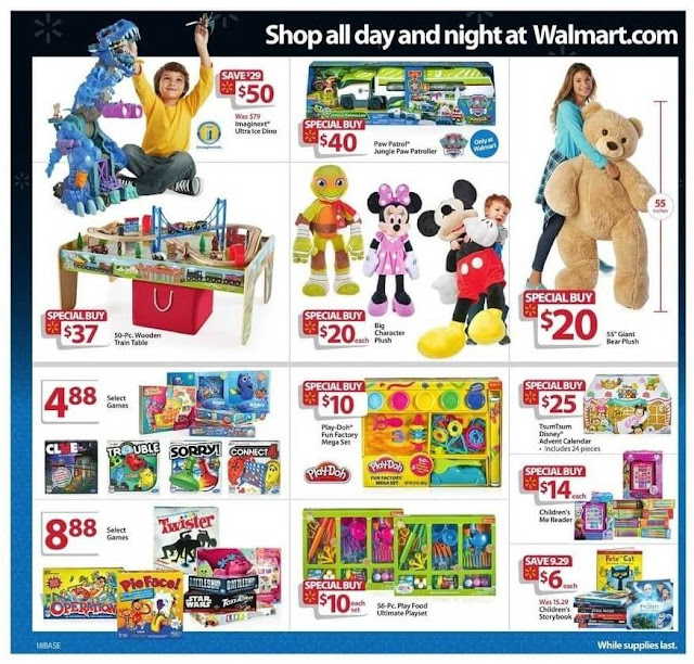 Walmart Black Friday Offer Kids Toys, Giant Bear Plush and Big Character Plush