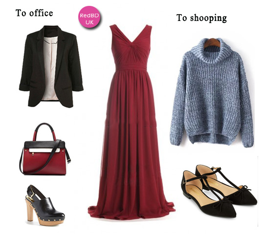 wear again burgundy bridesmaid dresses