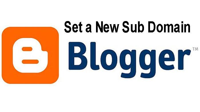 set new sub domain blogspot
