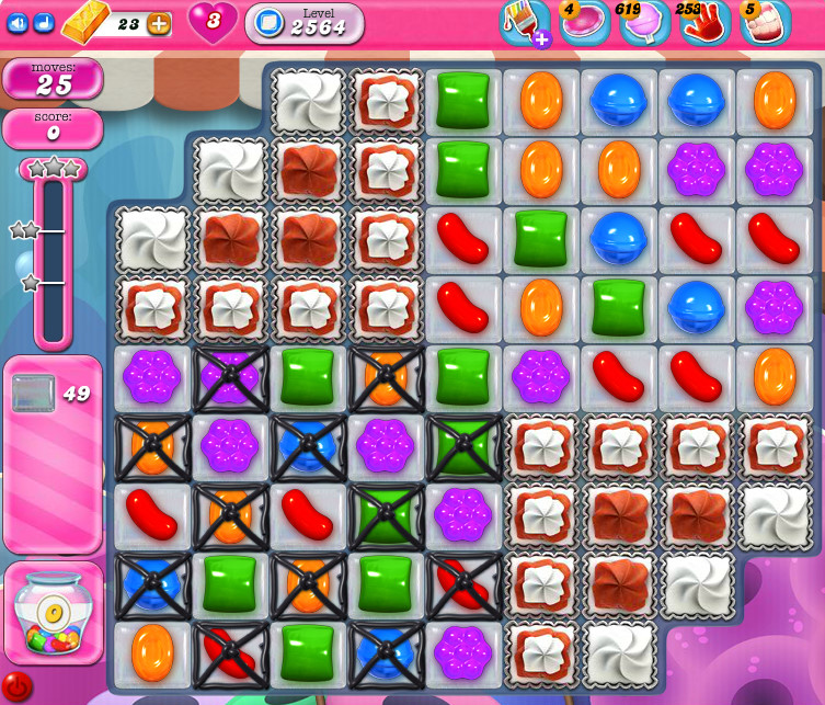 Candy Crush Saga level 2564